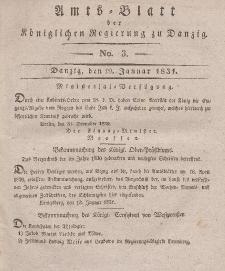 Amts-Blatt der Königlichen Regierung zu Danzig, 19. Januar 1831, Nr. 3