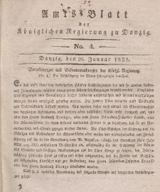 Amts-Blatt der Königlichen Regierung zu Danzig, 26. Januar 1831, Nr. 4