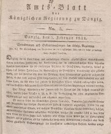 Amts-Blatt der Königlichen Regierung zu Danzig, 2. Februar 1831, Nr. 5