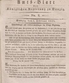 Amts-Blatt der Königlichen Regierung zu Danzig, 9. Februar 1831, Nr. 6