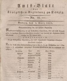 Amts-Blatt der Königlichen Regierung zu Danzig, 9. März 1831, Nr. 10
