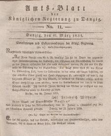 Amts-Blatt der Königlichen Regierung zu Danzig, 16. März 1831, Nr. 11