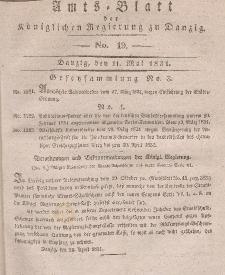 Amts-Blatt der Königlichen Regierung zu Danzig, 11. Mai 1831, Nr. 19