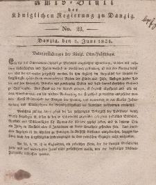 Amts-Blatt der Königlichen Regierung zu Danzig, 8. Juni 1831, Nr. 23
