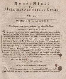 Amts-Blatt der Königlichen Regierung zu Danzig, 15. Juni 1831, Nr. 24