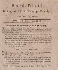 Amts-Blatt der Königlichen Regierung zu Danzig, 22. Juni 1831, Nr. 25