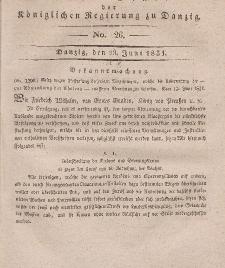 Amts-Blatt der Königlichen Regierung zu Danzig, 29. Juni 1831, Nr. 26
