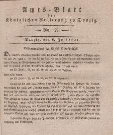 Amts-Blatt der Königlichen Regierung zu Danzig, 6. Juli 1831, Nr. 27