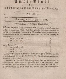 Amts-Blatt der Königlichen Regierung zu Danzig, 13. Juli 1831, Nr. 28
