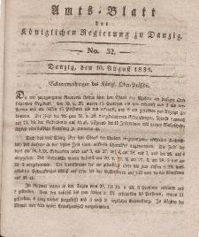 Amts-Blatt der Königlichen Regierung zu Danzig, 10. August 1831, Nr. 32