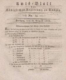 Amts-Blatt der Königlichen Regierung zu Danzig, 31. August 1831, Nr. 35