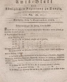 Amts-Blatt der Königlichen Regierung zu Danzig, 7. September 1831, Nr. 36