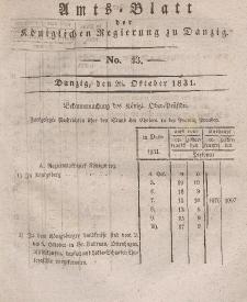 Amts-Blatt der Königlichen Regierung zu Danzig, 26. Oktober 1831, Nr. 43