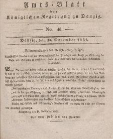 Amts-Blatt der Königlichen Regierung zu Danzig, 30. November 1831, Nr. 48