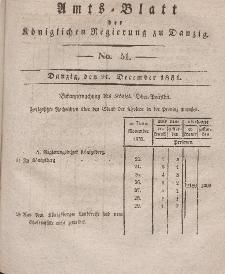 Amts-Blatt der Königlichen Regierung zu Danzig, 21. Dezember 1831, Nr. 51