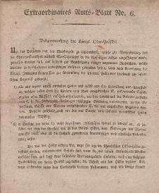 Amts-Blatt der Königlichen Regierung zu Danzig (Extraordinaires Amts-Blatt)