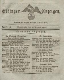Elbinger Anzeigen, Nr. 9. Sonnabend, 5. Februar 1825
