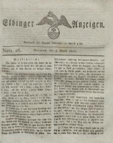 Elbinger Anzeigen, Nr. 26. Mittwoch, 6. April 1825