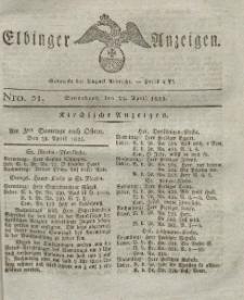 Elbinger Anzeigen, Nr. 31. Sonnabend, 23. April 1825
