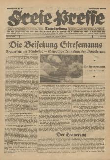 Freie Presse, Nr. 234 Montag 7. Oktober 1929 5. Jahrgang