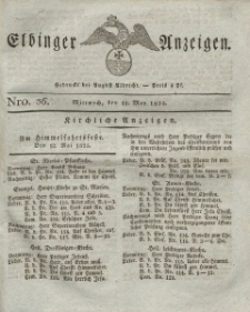 Elbinger Anzeigen, Nr. 36. Mittwoch, 11. Mai 1825