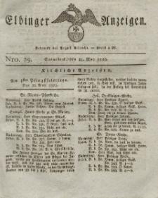 Elbinger Anzeigen, Nr. 39. Sonnabend, 21. Mai 1825
