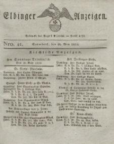 Elbinger Anzeigen, Nr. 41. Sonnabend, 28. Mai 1825