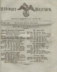Elbinger Anzeigen, Nr. 47. Sonnabend, 18. Juni 1825