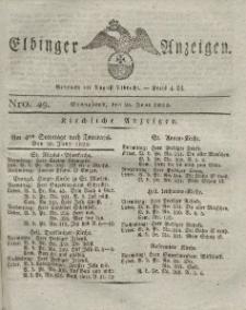 Elbinger Anzeigen, Nr. 49. Sonnabend, 25. Juni 1825