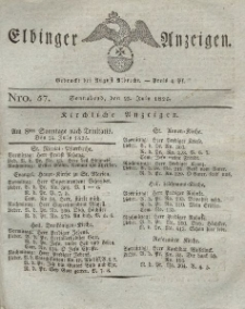Elbinger Anzeigen, Nr. 57. Sonnabend, 23. Juli 1825