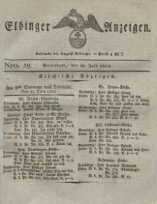 Elbinger Anzeigen, Nr. 59. Sonnabend, 30. Juli 1825