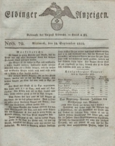 Elbinger Anzeigen, Nr. 72. Mittwoch, 14. September 1825