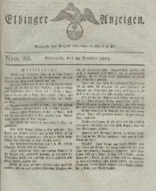 Elbinger Anzeigen, Nr. 82. Mittwoch, 19. Oktober 1825