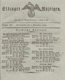 Elbinger Anzeigen, Nr. 87. Sonnabend, 5. November 1825