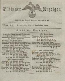 Elbinger Anzeigen, Nr. 89. Sonnabend, 12. November 1825