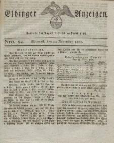 Elbinger Anzeigen, Nr. 94. Mittwoch, 30. November 1825