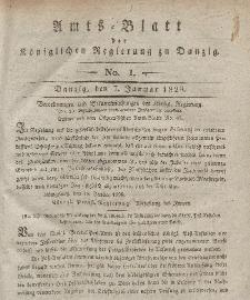 Amts-Blatt der Königlichen Regierung zu Danzig, 7. Januar 1829, Nr. 1