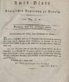 Amts-Blatt der Königlichen Regierung zu Danzig, 14. Januar 1829, Nr. 2