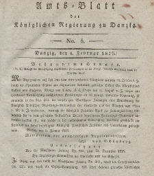 Amts-Blatt der Königlichen Regierung zu Danzig, 4. Februar 1829, Nr. 5