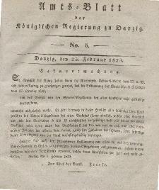 Amts-Blatt der Königlichen Regierung zu Danzig, 25. Februar 1829, Nr. 8