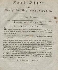 Amts-Blatt der Königlichen Regierung zu Danzig, 4. März 1829, Nr. 9
