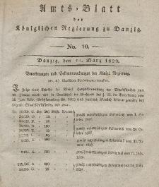 Amts-Blatt der Königlichen Regierung zu Danzig, 11. März 1829, Nr. 10