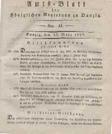 Amts-Blatt der Königlichen Regierung zu Danzig, 18. März 1829, Nr. 11