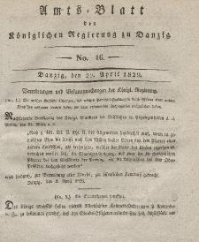 Amts-Blatt der Königlichen Regierung zu Danzig, 22. April 1829, Nr. 16