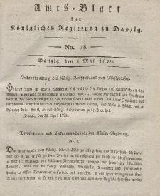 Amts-Blatt der Königlichen Regierung zu Danzig, 6. Mai 1829, Nr. 18