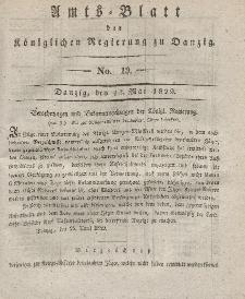 Amts-Blatt der Königlichen Regierung zu Danzig, 13. Mai 1829, Nr. 19