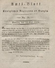 Amts-Blatt der Königlichen Regierung zu Danzig, 20. Mai 1829, Nr. 20
