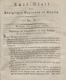 Amts-Blatt der Königlichen Regierung zu Danzig, 3. Juni 1829, Nr. 22