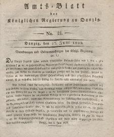 Amts-Blatt der Königlichen Regierung zu Danzig, 17. Juni 1829, Nr. 24