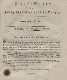Amts-Blatt der Königlichen Regierung zu Danzig, 24. Juni 1829, Nr. 25